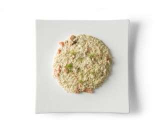 Risotto salmone e robiola con semi di papavero